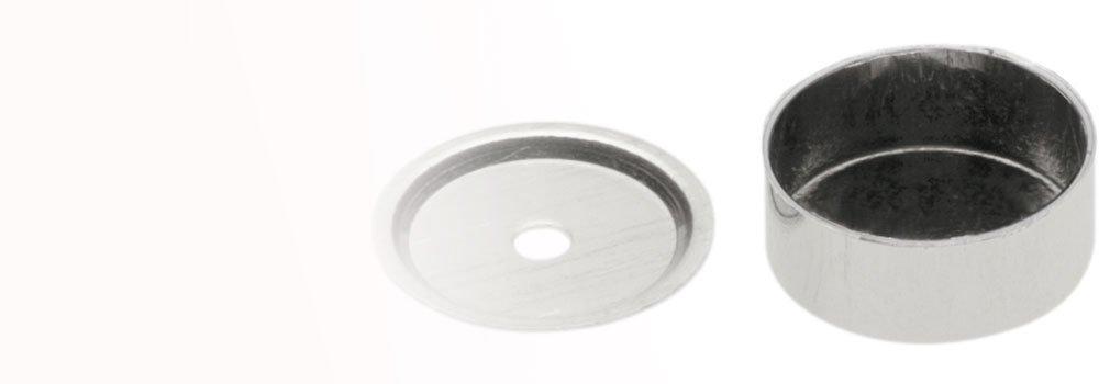 Crisoles de platino para análisis térmico