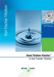 Karl Fischer titration for water determination