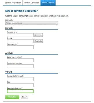 Titration Calculator – Direct Titration Calculations