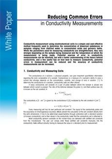 Reducing Common Errors in Conductivity Measurement