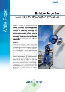 No More Purge Gas-New TDLs for Combustion Processes