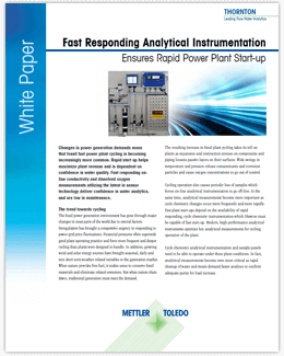 Fast Responding Analytical Instrumentation
