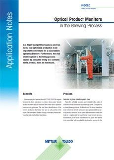 Optical Product Monitors in the Brewing Process