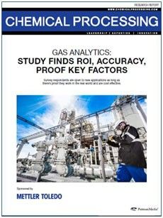 Gas measurement equipment survey from Chemical Processing and METTLER TOLEDO