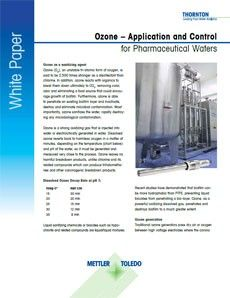 Ozone Application and Control for Pharmaceutical Waters