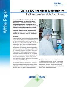 On-line TOC and Ozone Measurement For Pharmaceutical Waters
