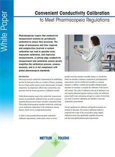 Convenient Conductivity Calibration to Meet Pharmacopeia Regulations