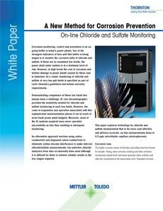 White paper: On-line Chloride and Sulfate Monitoring by Microfluidic Capillary Electrophoresis
