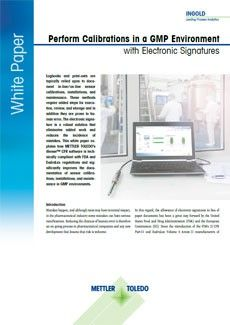 Perform Calibrations in a GMP Environment with Electronic Signatures