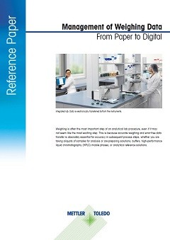 Management of Weighing Data from Paper to Digital (Reference Paper)