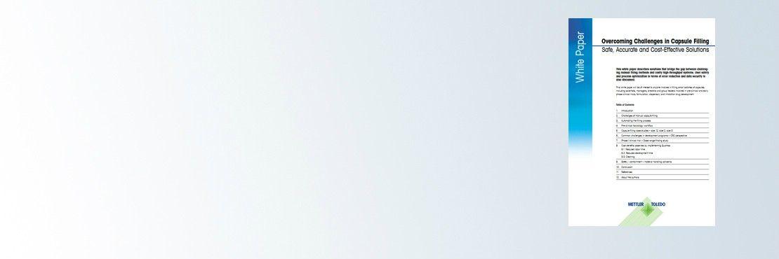 Artículo técnico: Overcoming Challenges in Capsule Filling (Superación de los retos relacionados con el llenado de cápsulas)