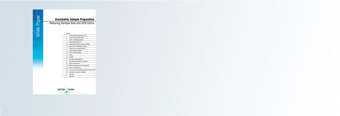 Информационный документ: «Гравиметрический метод: уменьшение размера образцов и устранение ошибок, связанных с получением несоответствующих результатов»