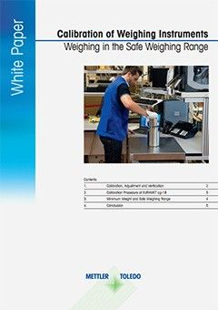 calibration of weighing instruments