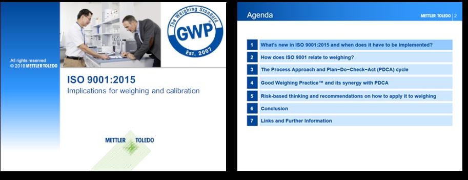 Webinar zu Änderungen für Wägeanwendungen in ISO 9001:2015