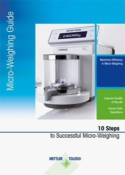 10 steps to Microweighing