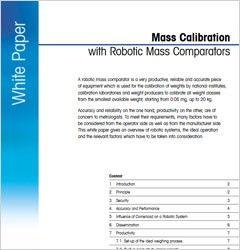 Calibration with Robotic Mass Comparators