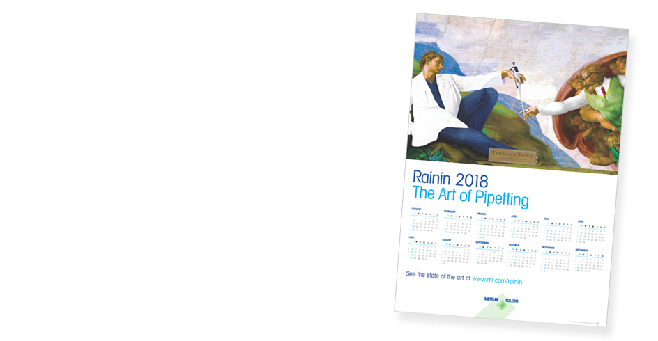 Calendrier mural Rainin 2018