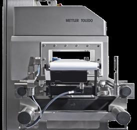 Metal detector side view - Detector head and conveyor