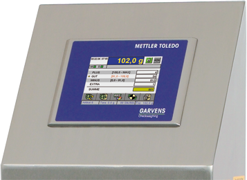 XC checkweigher terminal user interface