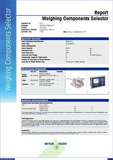 Weighing Component Selector Report