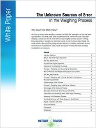 Unknown Sources of Error in the Weighing Process