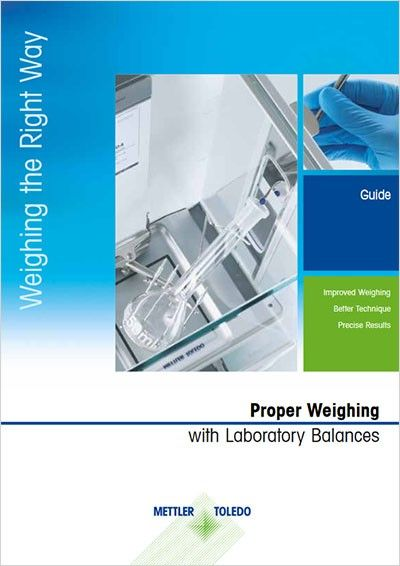 Weighing the right way guide provides our recommendation of how to achieve more accurate weighing results and avoid mistakes when working with laboratory balances.