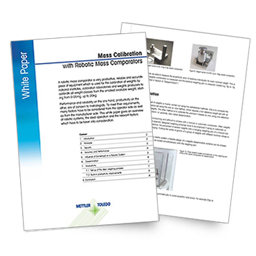 White Paper: Mass Calibration with Robotic Mass Comparators