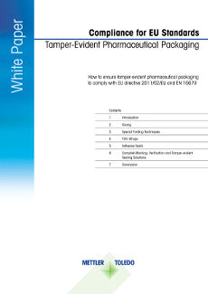 Tamper-Evident Pharmaceutical Packaging