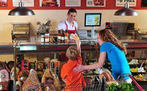 Prodajni pult s svežimi živili